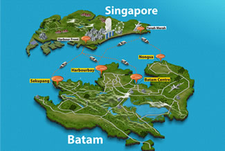 Batamfast Route Map