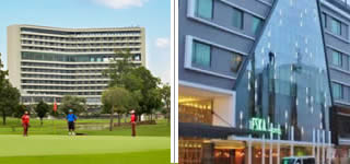 Padang Golf Sukajadi + Eska Hotel